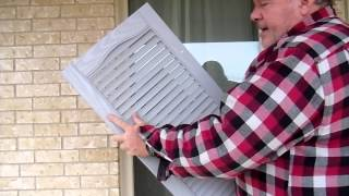 Installing Home Depot Plastic Window Shutters