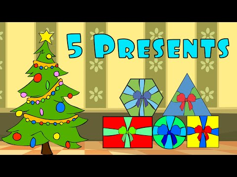 5 Presents | Christmas Shapes Song | After School Cubs