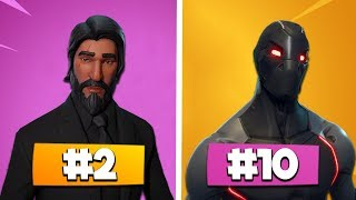 TOP 10 der BESTEN Fortnite BATTLE PASS SKINS - Fortnite Battle Royale | DerFruchtzwerg