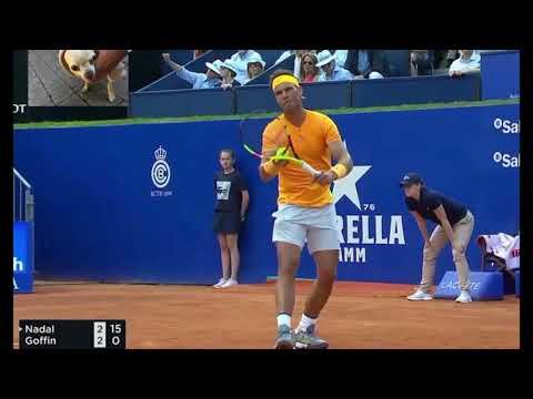 Nadal vs Goffin Barcelona Semifinal 2018 Highlights