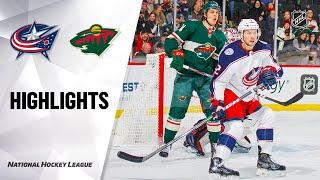 NHL Highlights | Blue Jackets @ Wild 2/25/20