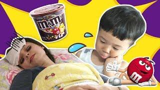 妈妈生病了,波牛和奔奔是怎么照顾妈妈的呢?小伶玩具 | Xiaoling toys