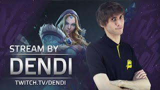 Dota 2 Stream: Na`Vi Dendi playing Crystal Maiden (Gameplay & Commentary)
