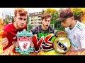 Real Madrid Vs Liverpool Fußball Challenge!!