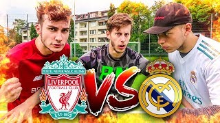 REAL MADRID VS LIVERPOOL FUßBALL CHALLENGE!!
