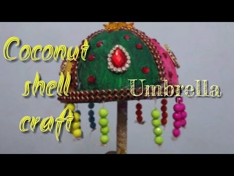 Coconut Shell Craft | Umbrella |