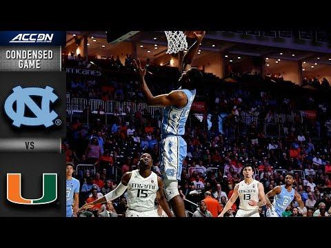 North Carolina vs. Miami Condensed Game | 2018-19 ACC Basketball