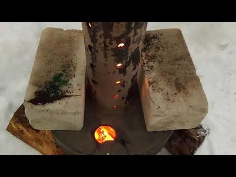 Сжигание резины и пластика без дыма