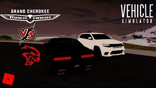 Dodge Hellcat vs Jeep TrackHawk (Simulateur de véhicule) - Roblox