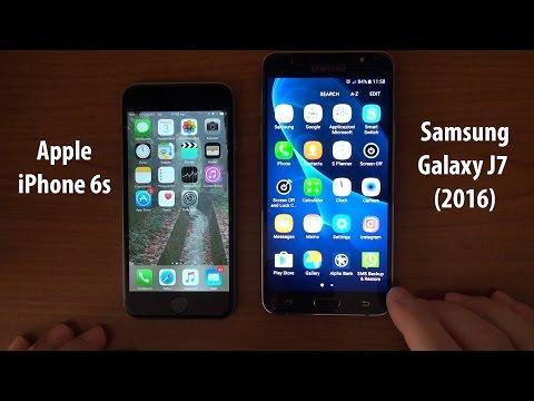 Apple iPhone 6s vs Samsung Galaxy J7 (2016) J710F (Comparison, Apps Speed Test)