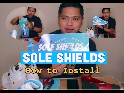 HOW TO INSTALL SOLE SHIELDS TO SNEAKERS