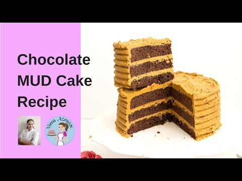 Best Chocolate Mud Cake Recipe | Chocolate Mud Cake With Caramel Buttercream
