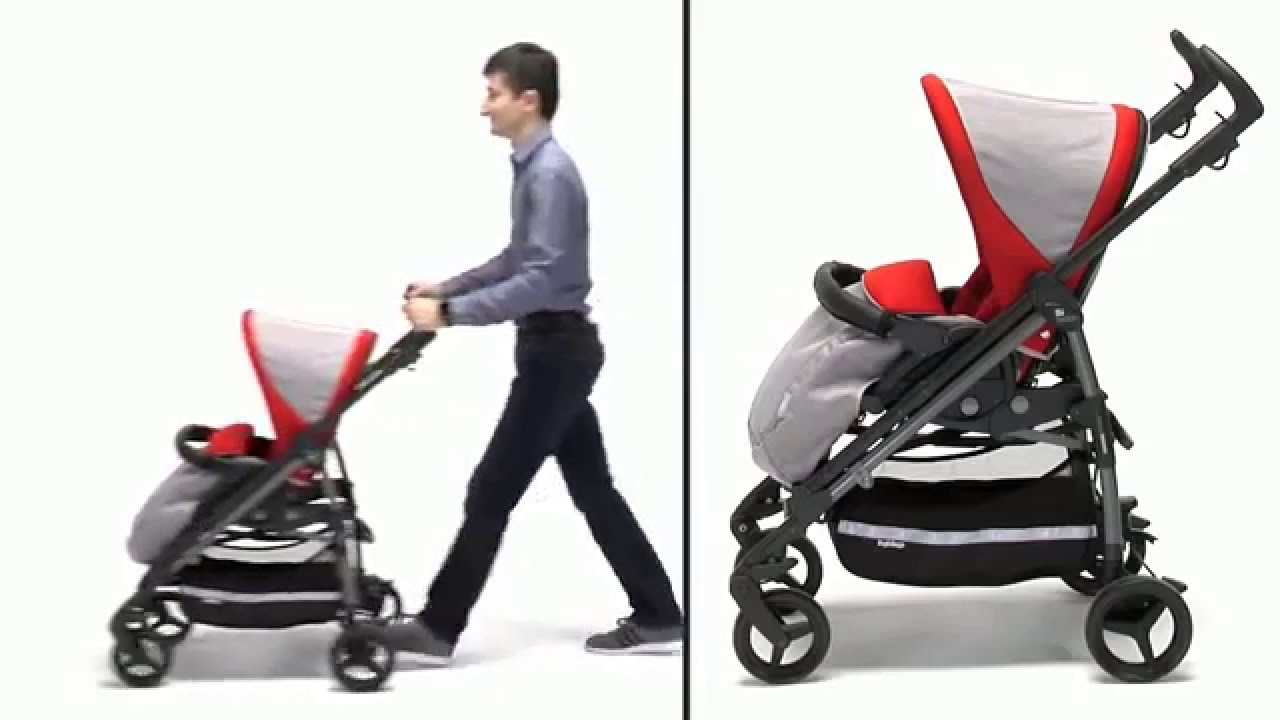 Управляется одной рукой. Отличный вариант. Пользуюсь 5 месяцев. (15) peg -perego si completo маневренная коляска, легко складывается и хороший.