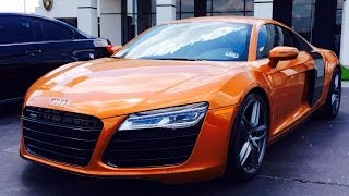 2014 audi r8 4 2l v8 6 speed exhaust start up in depth review