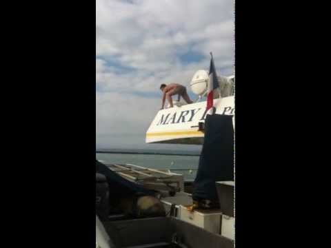 New Caledonia boat Jumping