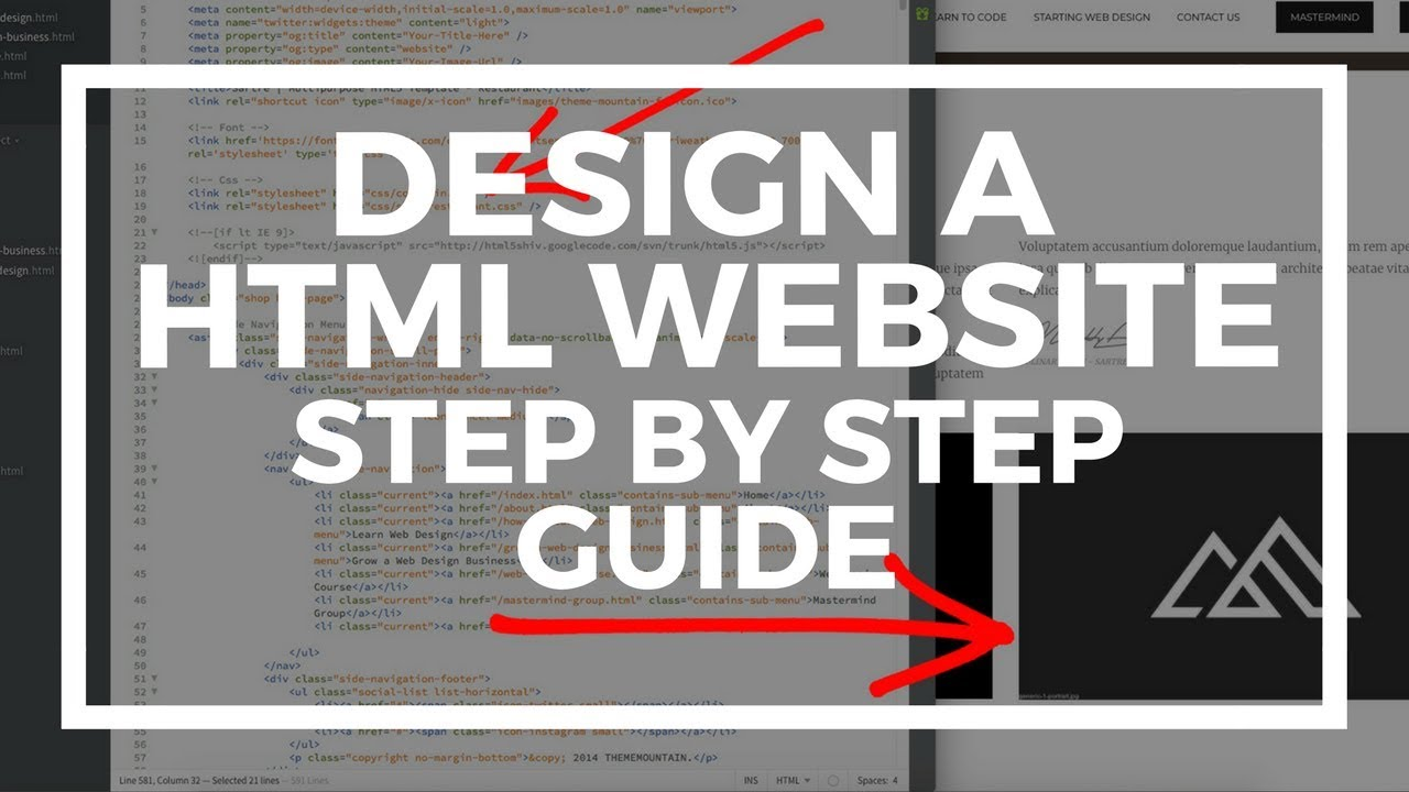 How To Build A Website Using Html Theme Template Youtube