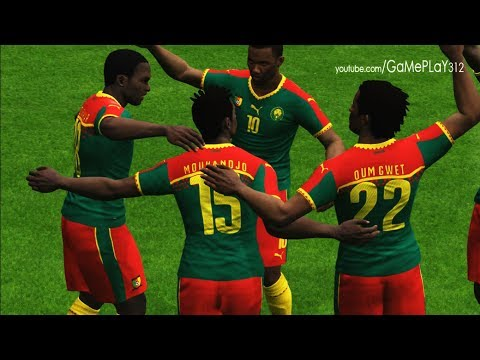 Cameroon vs Chile - Confederations cup 2017 - PES 2017 Gameplay
