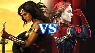 WONDER WOMAN vs CAPITANA MARVEL - alejozaaap