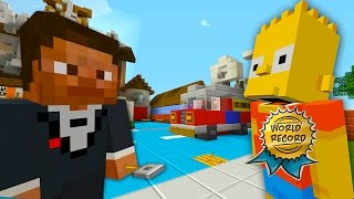 Bart Simpson Guinness World Records 2017 📀 | The Simpsons  | Minecraft Xbox [58]