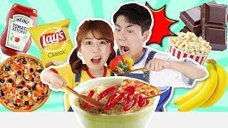 世界上最奇怪的食物組合挑戰!小伶玩具 | Xiaoling toys