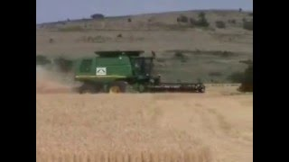 Wheat harvesting near Lawton Oklahoma