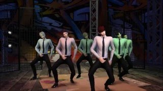 심즈4 the sims 4 bts 쩔어 dope group dance get together