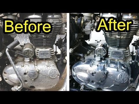 How to Clean Bike Engine Cover - Royal Enfield