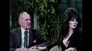 Elvira and Vincent Price special appearance - David Brenner, 'The Tonight Show'