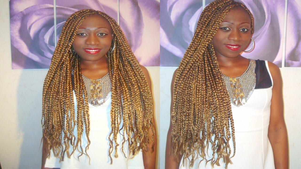 Tutorial Tran 199 As Loiro Mel Blond Box Braids 2014 Youtube
