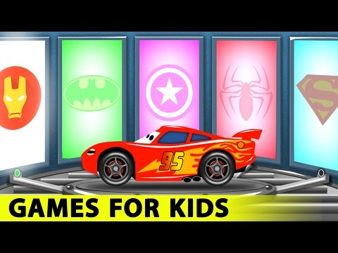 Thumbnail: Lightning McQueen and Spiderman Cars Cartoon for Kids with Fun Race Learn Colors for Children