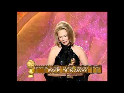 Faye Dunaway Wins Best Support Actress TV Series - Golden Globes 1999
