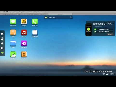 Manage your Android phone wirelessly using a web browser with AirDroid