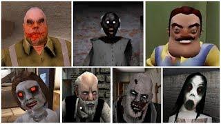 Escape Endings | Granny*Hello Neighbor*Mr.Meat*Dread Teacher*Slendrina*Erich Sann*Psychopath