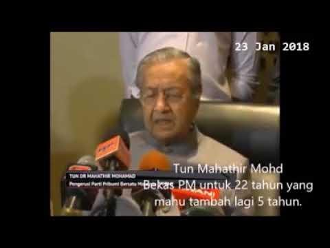 [Video] Kalau lama sangat jadi Perdana Menteri, nanti korup - Mahathir 😂 😂