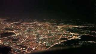 Advanst PR - Ночная Москва виды из кабины пилота | Russia Moscow view