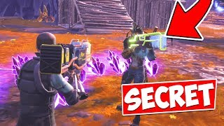 I found 2 SECRET NON-CRAFTABLE Weapons in Fortnite Save The World?!