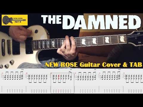 New Rose (The Damned) GUITAR COVER with TAB and CHORDS - Punk Guitar Song