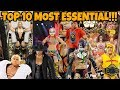 TOP 10 MOST ESSENTIAL WWE MATTEL ACTION FIGURES EVER!!!