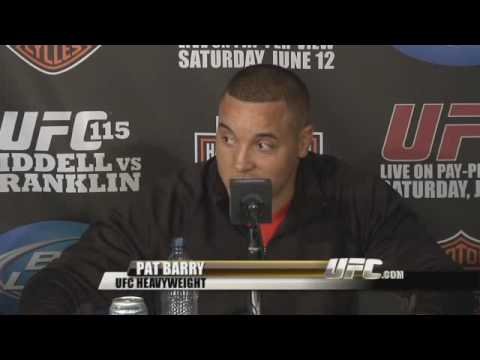 Banter between Mirko Cro Cop and Pat Barry before their UFC match