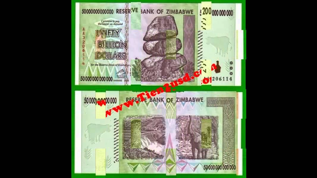 Tiền mệnh giá khủng : 1 tỷ usd,1 triệu usd,500 tỷ nam tư,100 nghìn tỷ  zimbabwe