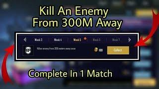 Скачать Kill An Enemy From 300M Away Once In Pubg Mobile Season 6 Week 5