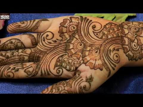 Stylish Gulf Floral Mehndi Designs For Hands:Romantic Henna Mehendi Art Application Step By Step