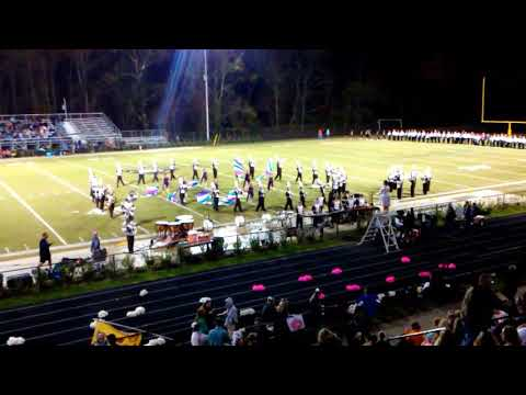 The David Crockett High School Band. Last home game of the year 10-27-17. Halftime show
