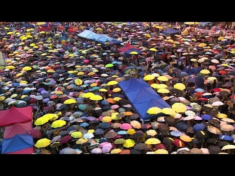 Hong Kong activists mark one month of 'Umbrella Movement'