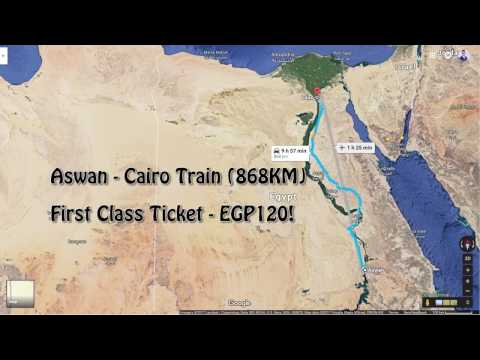 14 Hours In The Cairo Express In 4 Minutes Of Video!