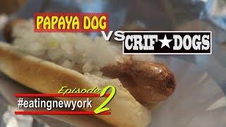 New York hot dogs   eating New York 2/3   vlog 81