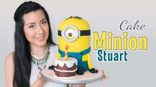 Tarta Minion Stuart - tutorial paso a paso | fondant cake | Quiero Cupcakes!