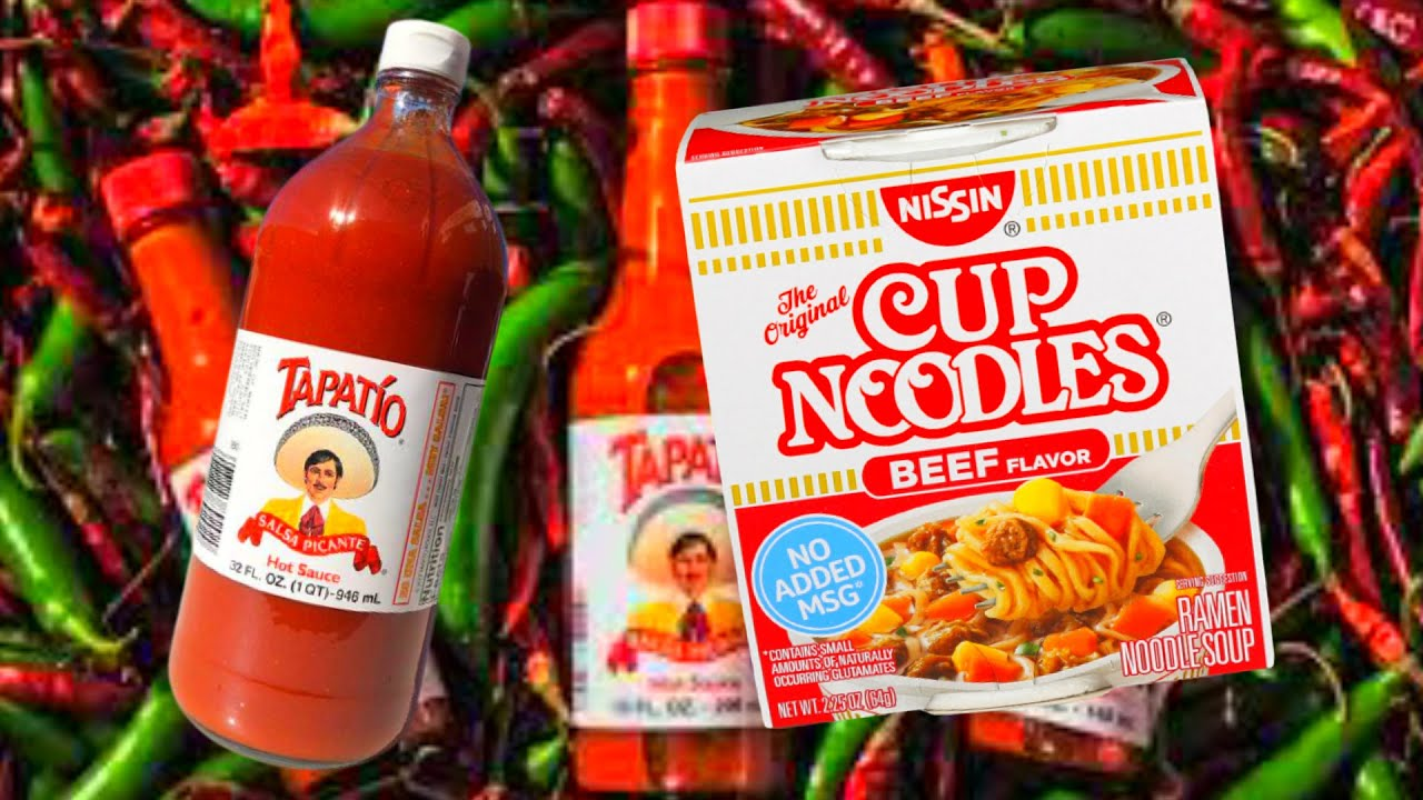 CRAZY FOOD COMBO!! CUP NOODLES AND TAPITIO!!