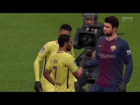 FIFA 18   FC Barcelona vs PSG - Full Gameplay ( PS4/Xbox One ) 1080p