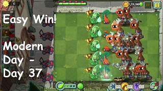 Most Ridiculous Combo! Easy Win! | PvZ2 Modern Day - Day 37 with Aloe+Chard Guard+Spikeweed Video